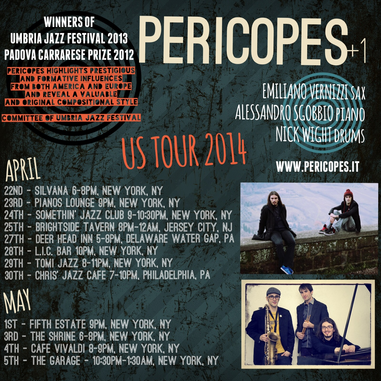 PERICOPES GIGS FLYER