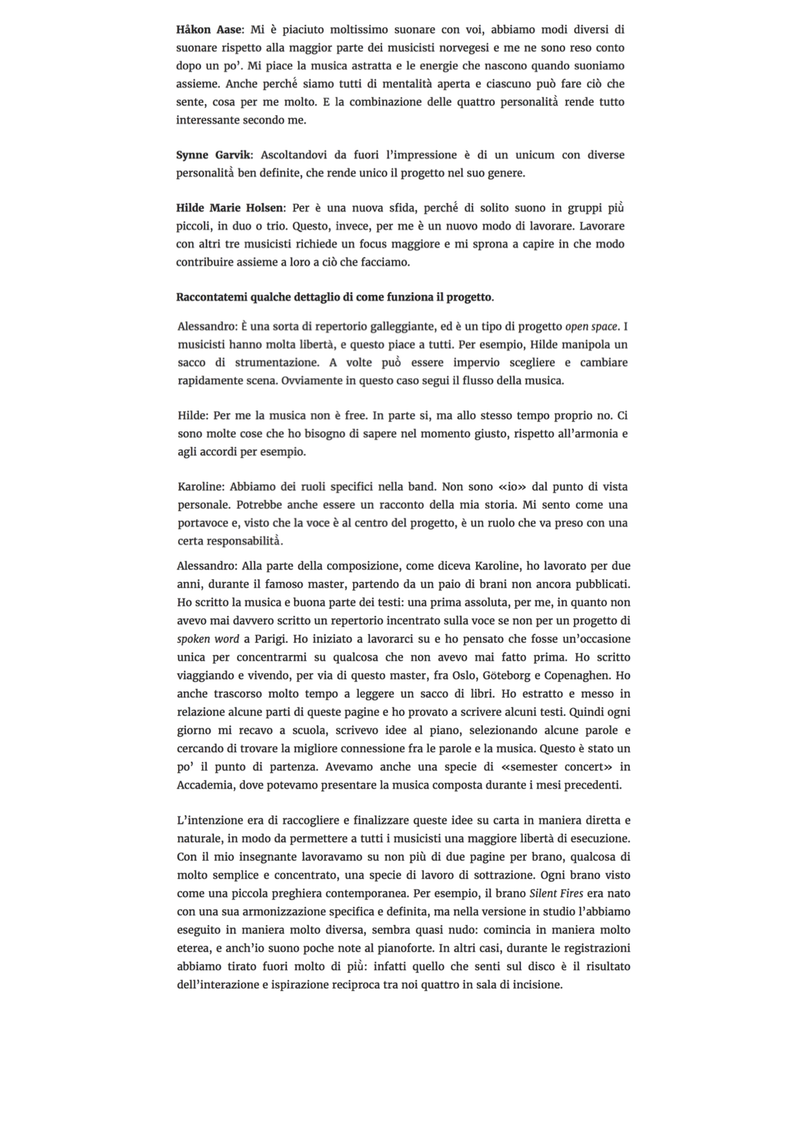 Forests - Interview Musica Jazz (11.05.20) 3