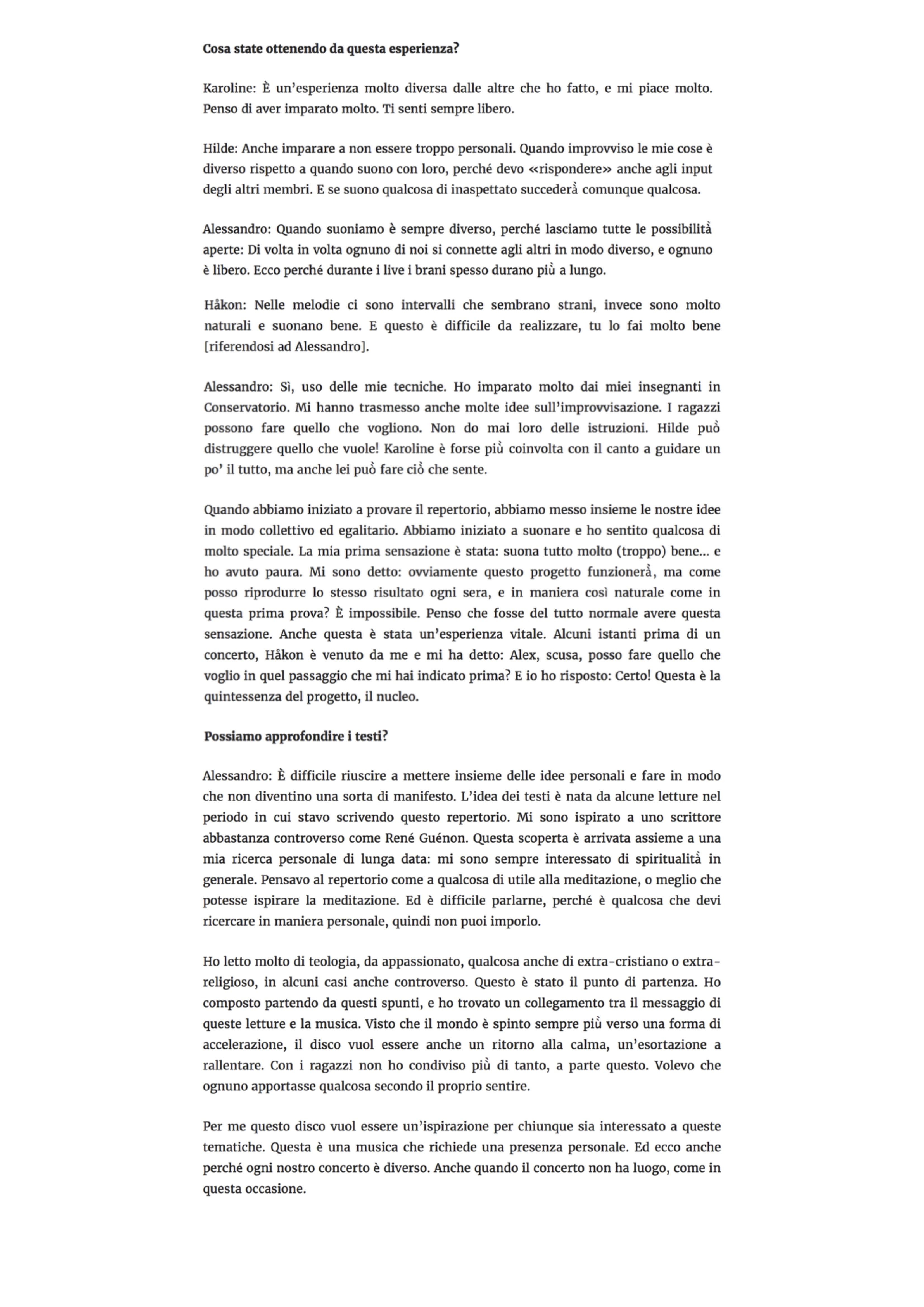 Forests - Interview Musica Jazz (11.05.20) 5