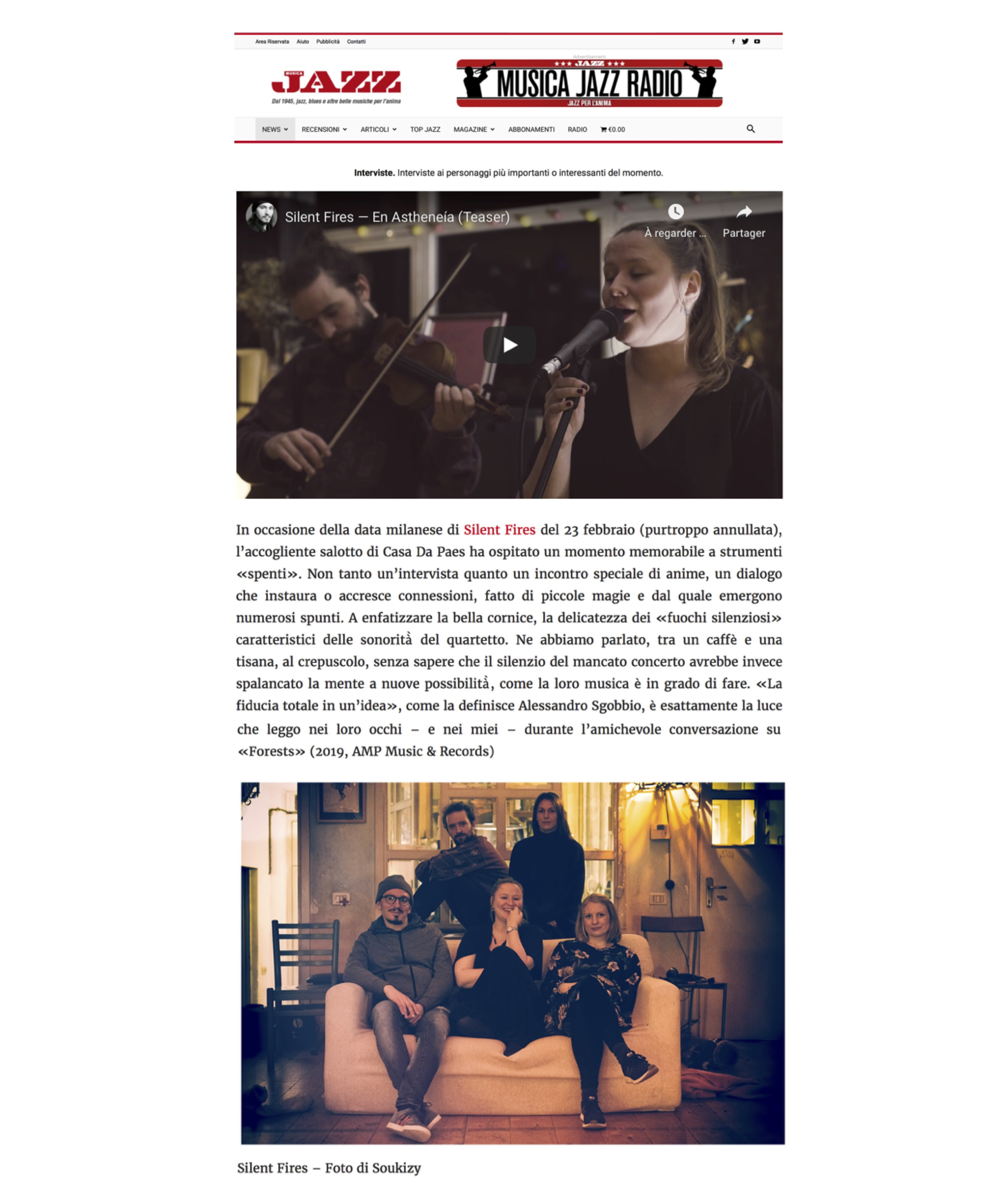 Forests - Interview Musica Jazz (11.05.20)