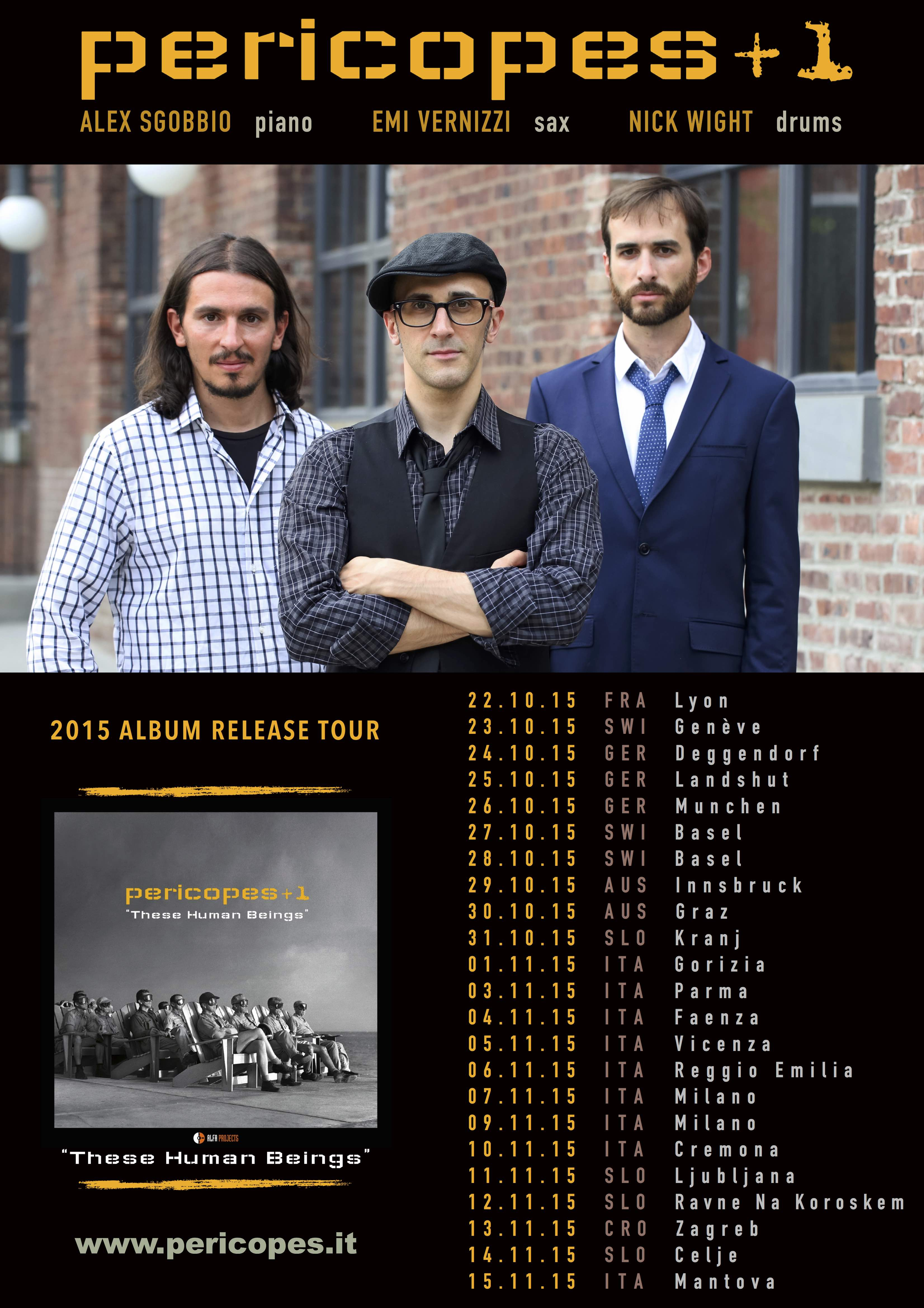 Pericopes - These Human Beings - Album Release Tour 2015 facebook