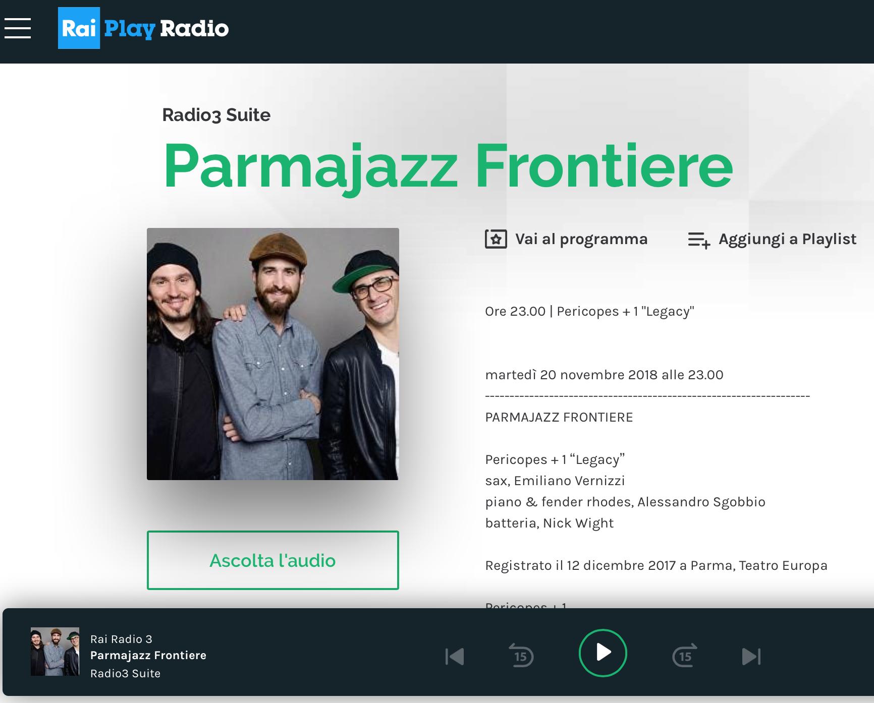Pericopes+1 Radio3Suite